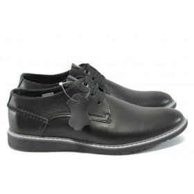 Мъжки обувки - естествена кожа - черни - МЙ 83338 черен