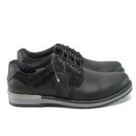Мъжки обувки - естествена кожа - черни - МЙ 83325 черен