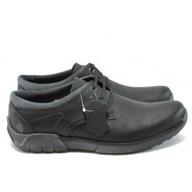 Мъжки обувки - естествена кожа - черни - МЙ 83336 черен
