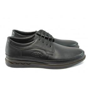 Мъжки обувки - естествена кожа - черни - ПИ 746 черен
