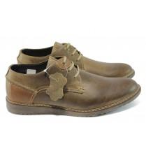 Мъжки обувки - естествена кожа - кафяви - МЙ 83338 кафяв