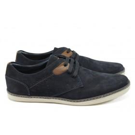Спортни мъжки обувки - естествен набук - сини - КО 125-132 син
