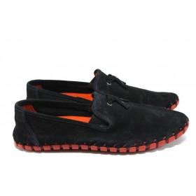 Мъжки обувки - естествена кожа - черни - EO-7838