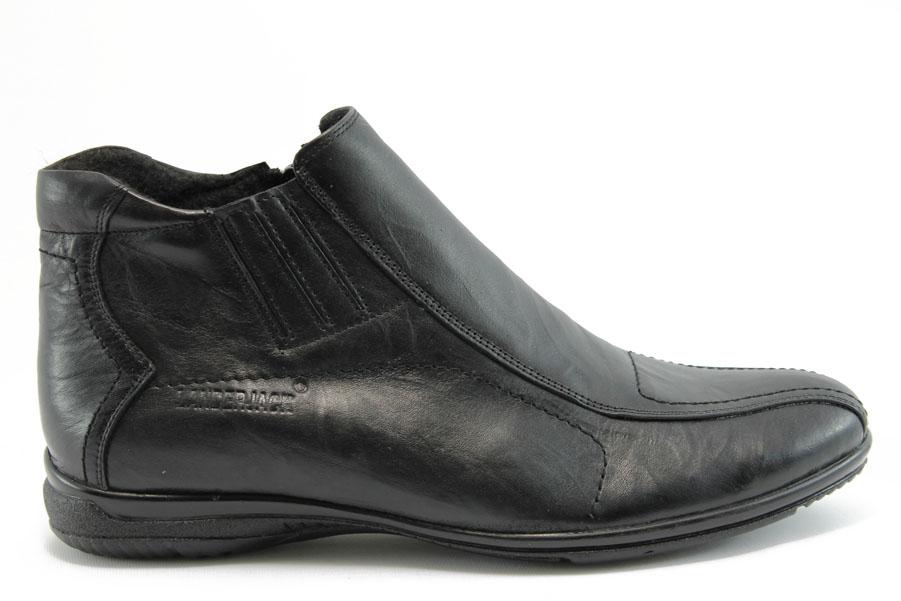 Мъжки боти - естествена кожа - черни - EO-7528