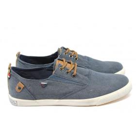 Спортни мъжки обувки - висококачествен текстилен материал - сини - EO-6027