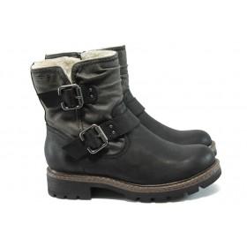 Дамски боти - висококачествена еко-кожа - черни - Jana 8-26462-25 черен
