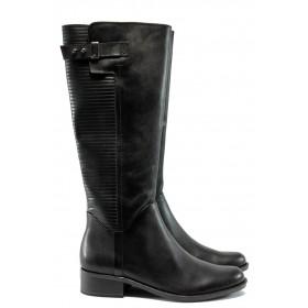 Дамски ботуши - естествена кожа - черни - Caprice 9-25509-25 черен ANTISHOKK