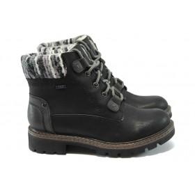 Дамски боти - висококачествена еко-кожа - черни - Jana 8-26264-25 черен