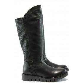 Дамски ботуши - естествена кожа - черни - Marco Tozzi 2-25625-25 черен