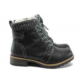 Юношески боти - висококачествена еко-кожа - черни - Jana 8-26265-25 черен