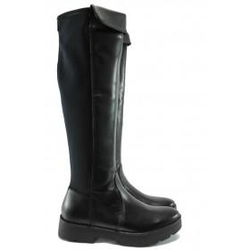 Дамски ботуши - естествена кожа - черни - S.Oliver 5-25609-25 черен
