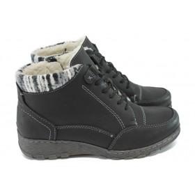 Юношески боти - висококачествена еко-кожа - черни - Jana 8-26263-25 черен