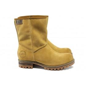 Дамски боти - естествен набук - жълти - S.Oliver 5-26461-25 жълто