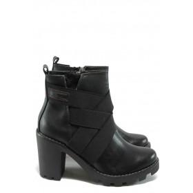 Дамски боти - висококачествена еко-кожа - черни - S.Oliver 5-25429-25 черен