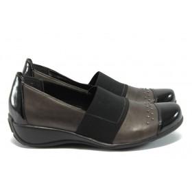 Дамски обувки на платформа - естествена кожа - кафяви - Remonte R9821-45 кафяв