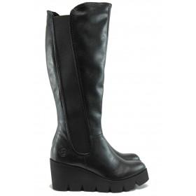 Дамски ботуши - висококачествена еко-кожа - черни - Marco Tozzi 2-25611-25 черен