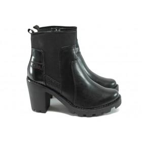 Дамски боти - висококачествена еко-кожа - черни - S.Oliver 5-25474-35 черен