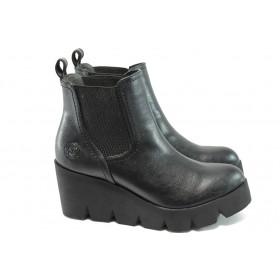Дамски боти - висококачествена еко-кожа - черни - Marco Tozzi 2-25436-25 черен