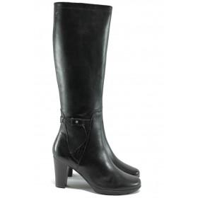 Дамски ботуши - естествена кожа - кафяви - Caprice 9-25517-25 черен ANTISHOKK