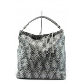 Дамска чанта - висококачествена еко-кожа - черни - EO-7978