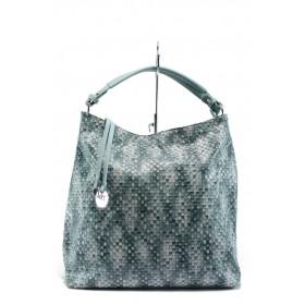 Дамска чанта - висококачествена еко-кожа - сини - EO-7980