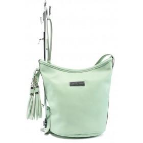 Дамска чанта - висококачествена еко-кожа - зелени - EO-7986