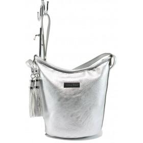 Дамска чанта - висококачествена еко-кожа - сиви - EO-7987