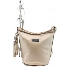 Дамска чанта - висококачествена еко-кожа - жълти - EO-7989