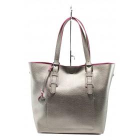 Дамска чанта - висококачествена еко-кожа - кафяви - EO-7993