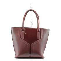 Дамска чанта - висококачествена еко-кожа - бордо - EO-8140