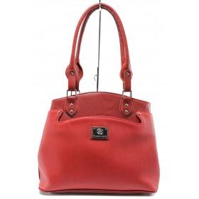 Дамска чанта - висококачествена еко-кожа - червени - EO-8197