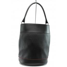 Дамска чанта - висококачествена еко-кожа - черни - EO-8199