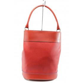 Дамска чанта - висококачествена еко-кожа - червени - EO-8200