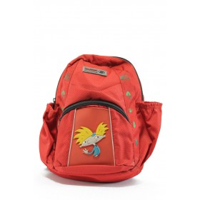 Раница - висококачествен текстилен материал - червени - EO-8961