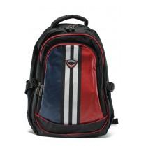 Раница - висококачествен текстилен материал - червени - EO-9206