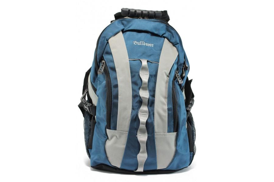 Раница - висококачествен текстилен материал - сини - EO-9205