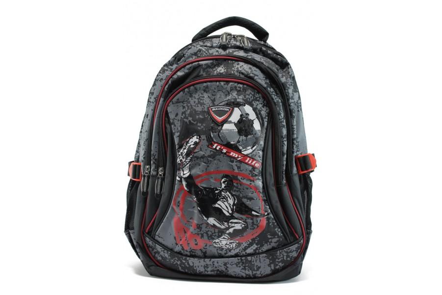 Раница - висококачествен текстилен материал - червени - EO-9209