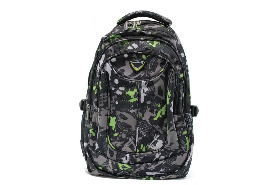 Раница - висококачествен текстилен материал - зелени - EO-9210
