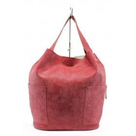 Дамска чанта - висококачествена еко-кожа - червени - EO-9245