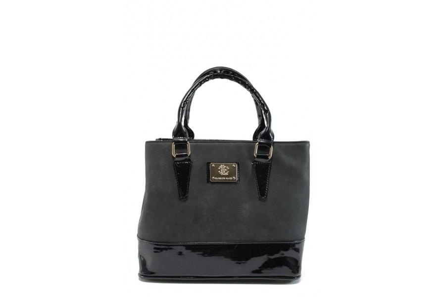 Дамска чанта - висококачествена еко-кожа - черни - EO-9247