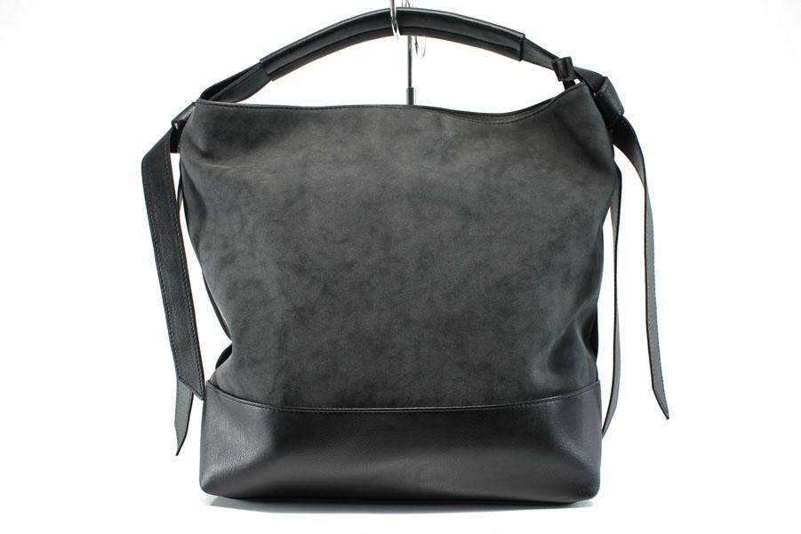 Дамска чанта - висококачествена еко-кожа - черни - EO-9289