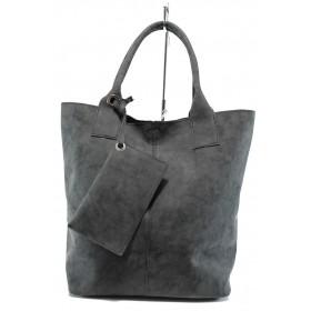 Дамска чанта - висококачествена еко-кожа - черни - EO-9295