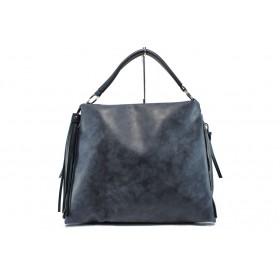 Дамска чанта - висококачествена еко-кожа - тъмносин - EO-9659