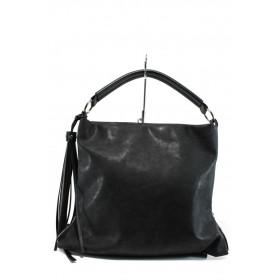 Дамска чанта - висококачествена еко-кожа - черни - EO-9661