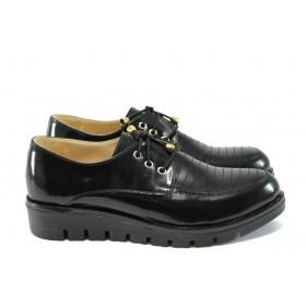 Равни дамски обувки - висококачествена еко-кожа - черни - EO-7921
