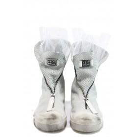 Дамски кецове - естествена кожа - бели - EO-8330
