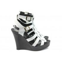 Дамски сандали - естествена кожа - бели - EO-8557