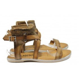 Дамски сандали - естествена кожа - бежови - EO-8693