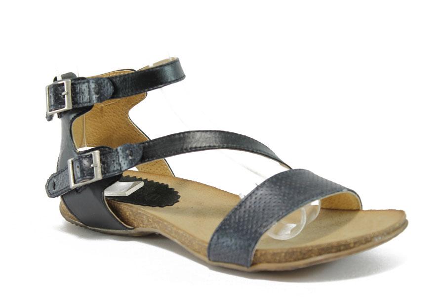 8cb215085ba Дамски сандали - естествена кожа - черни - EO-8861