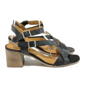 Дамски сандали - естествена кожа - червени - EO-8863